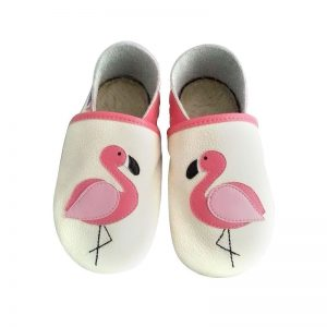 flamingi kapcie dla dzieci, kapcie do przedszkola, buty do żłobka, niechodki, pierwsze butki, kapcie dla dzieci, kapcie do przedszkola, kapcie skórzane, miękkie butki,