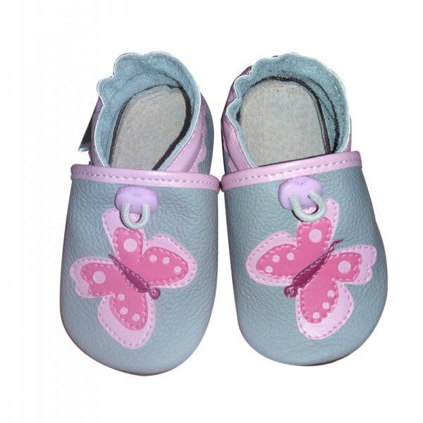 pierwsze butki dzieci niechodki do nauki chodzenia, raczkowania, kapcie dla dzieci do przedszkola, paputki skórzane motylki