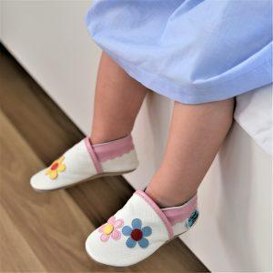 miękkie oddychajace kapcie dla dzieci paputki niechodki do nauki chodzena