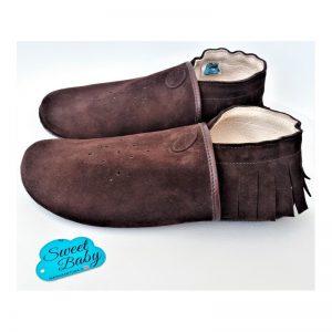 pantofle skórzane damskie Pocahontas