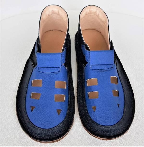 miękkie i lekkie sandały barefoot dziecięce do przedszkola na rzepy - wzór Bosa Stopka sandałki dla chłopca