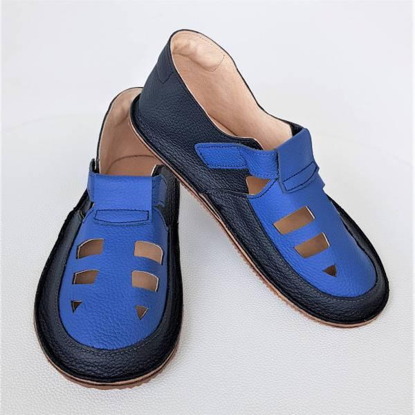 lekkie sandały dziecięce do przedszkola na rzepy - wzór Bosa Stopka dla dzieci i miękkie podeszwy