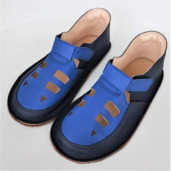 lekkie sandałki dziecięce do przedszkola na rzepy - wzór Bosa Stopka dla dzieci i miękkie podeszwy